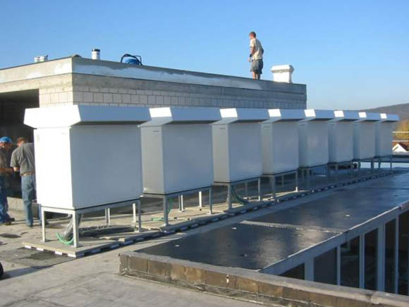 Установка тепловых насосов воздух/вода в каскад